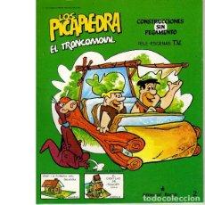 Coleccionismo Recortables: RECORTABLE TROQUELADO LOS PICAPIEDRA. EL TRONCOMOVIL. Lote 45744416