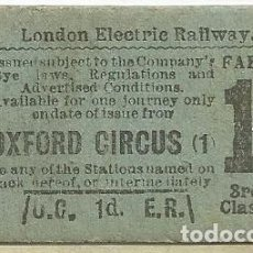 Coleccionismo Recortables: LONDON ELECTRIC RAILWAY. Lote 151406638