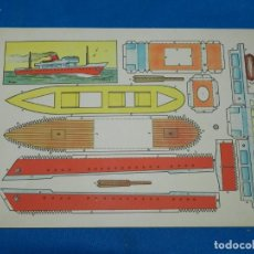 Coleccionismo Recortables: (M) RECORTABLE BARCO - MODELO PLA , 30 X 21 CM, BUEN ESTADO. Lote 151722658