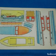 Coleccionismo Recortables: (M) RECORTABLE BARCO - MODELO PLA , 30 X 21 CM, BUEN ESTADO. Lote 151722710