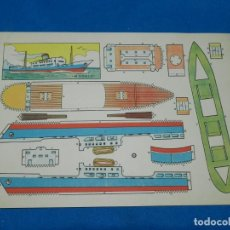 Coleccionismo Recortables: (M) RECORTABLE BARCO - MODELO PLA , 30 X 21 CM, BUEN ESTADO. Lote 151722746