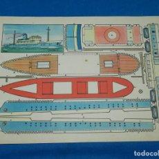 Coleccionismo Recortables: (M) RECORTABLE BARCO - MODELO PLA , 30 X 21 CM, BUEN ESTADO. Lote 151722766