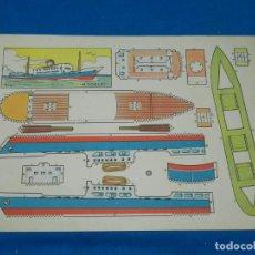 Coleccionismo Recortables: (M) RECORTABLE BARCO - MODELO PLA , 30 X 21 CM, BUEN ESTADO. Lote 151722798