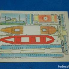 Coleccionismo Recortables: (M) RECORTABLE BARCO - MODELO PLA , 30 X 21 CM, BUEN ESTADO. Lote 151722846