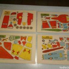 Coleccionismo Recortables: 4 RECORTABLES BRUGUERA. Lote 153571253