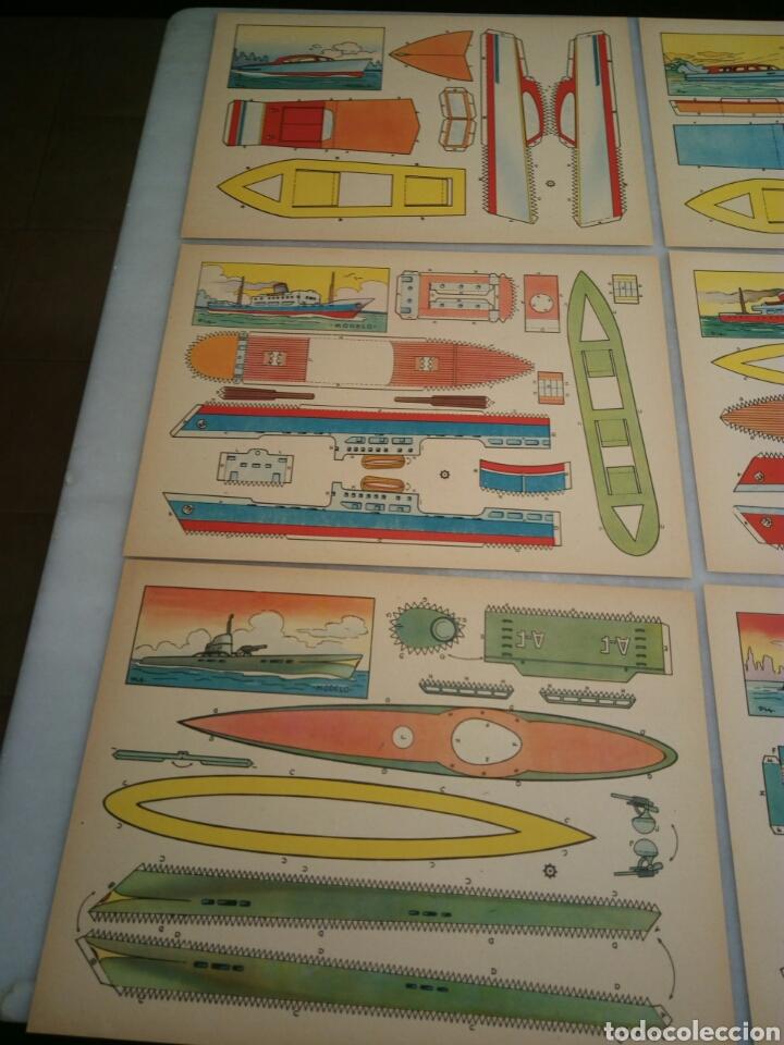 Coleccionismo Recortables: 9 recortables. Lanchas y barcos - Foto 2 - 153572652