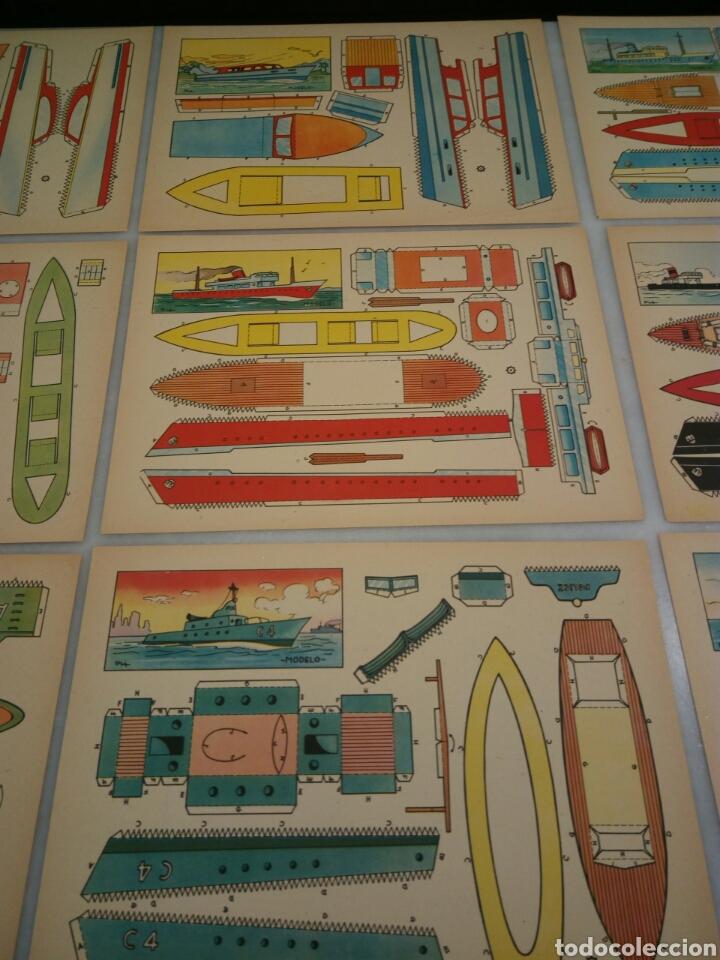 Coleccionismo Recortables: 9 recortables. Lanchas y barcos - Foto 3 - 153572652