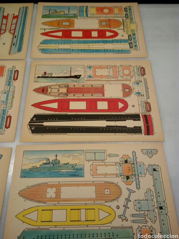 Coleccionismo Recortables: 9 recortables. Lanchas y barcos - Foto 4 - 153572652