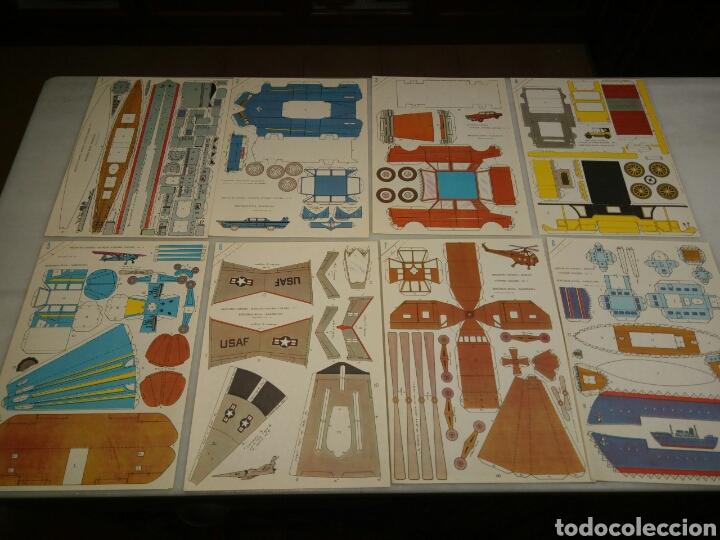 RECORTABLES COMETA. EDITORIAL ROMA. 1963. 8 LAMINAS (Coleccionismo - Recortables - Transportes)
