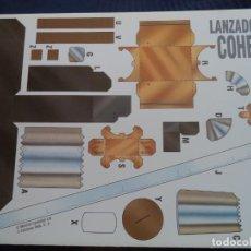 Coleccionismo Recortables: LANZADOR DE COHETES/ 4 PAGINAS 29X20,5 CM+ INSTRUCCIONES +EXPERIMENTO:COMBATE. Lote 155105178