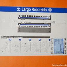 Coleccionismo Recortables: RENFE - TREN RECORTABLE - MONTAJE SIN PEGAR NI CORTAR - LARGO RECORRIDO - INTERCITY 448. Lote 155667698