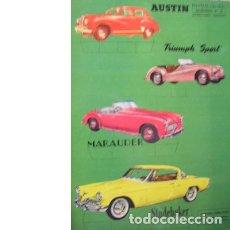 Coleccionismo Recortables: RECORTES ULTRA. AUTOMÓVILES Nº 2. EDITORIAL ROMA. 1961. Lote 47047754