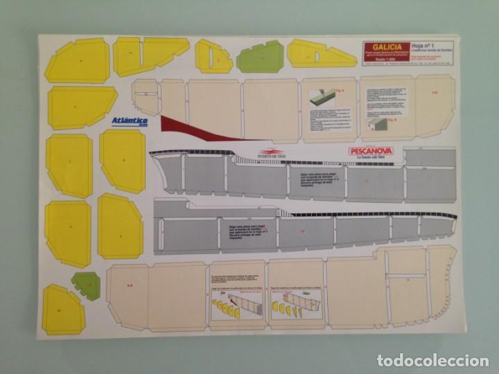 RECORTABLE,BUQUE FACTORIA GALICIA, 1:300, PESCANOVA, ATLANTICO DIARIO (Collectable Paper - Cutouts - Transports)