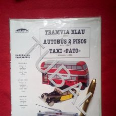 Coleccionismo Recortables: TUBAL BONITO RECOTABLE TRAMVIA BLAU AUTOBUS 2 PISOS Y TAXI PATO DE BARCELONA F1. Lote 161575302