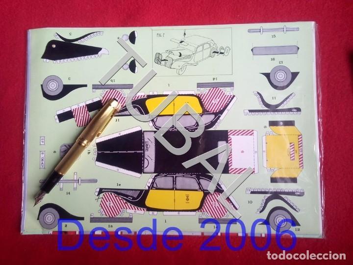 Coleccionismo Recortables: TUBAL BONITO RECOTABLE TRAMVIA BLAU AUTOBUS 2 PISOS Y TAXI PATO DE BARCELONA F1 - Foto 4 - 161575302