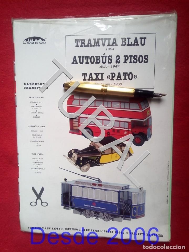 Coleccionismo Recortables: TUBAL BONITO RECOTABLE TRAMVIA BLAU AUTOBUS 2 PISOS Y TAXI PATO DE BARCELONA F1 - Foto 5 - 161575302