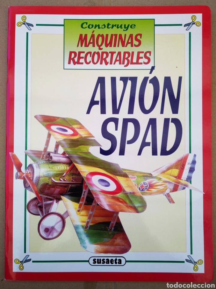 Coleccionismo Recortables: Lote Construye Máquinas Recortables (Susaeta). Incluye Avión Spad / Rolls Royce / Moto / Locomotora. - Foto 2 - 165847613