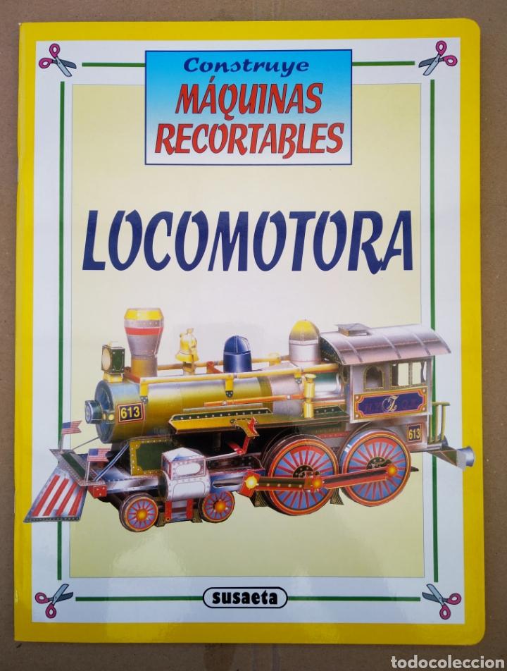 Coleccionismo Recortables: Lote Construye Máquinas Recortables (Susaeta). Incluye Avión Spad / Rolls Royce / Moto / Locomotora. - Foto 5 - 165847613