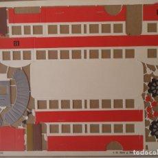 Coleccionismo Recortables: CONSTRUCTOR SEIX BARRAL 4 HOJAS 33X24 CM Nº38Y 39 AUTOBUS COMPLETO. Lote 170178392