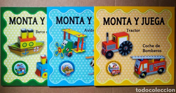 LOTE MONTA Y JUEGA COLECCIÓN COMPLETA (MACEDA). 'SIN PEGAMENTO, SIN TIJERAS, SIN COMPLICACIONES' (Coleccionismo - Recortables - Transportes)