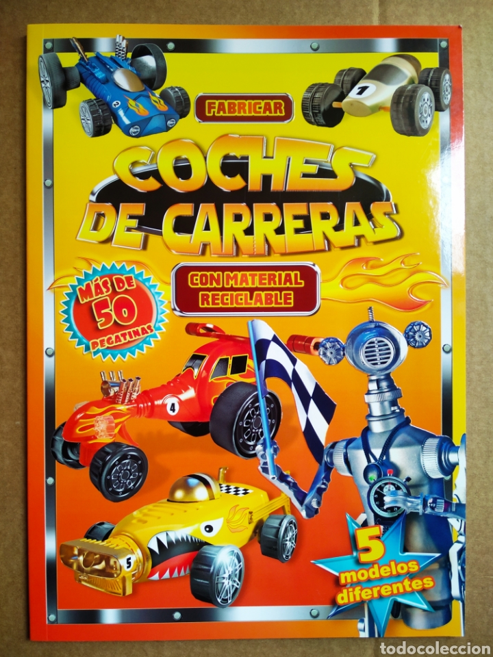 FABRICAR COCHES DE CARRERAS CON MATERIAL RECICLABLE (LIBRO DIVO, 2014). POR STEPHEN MUNZER. (Coleccionismo - Recortables - Transportes)