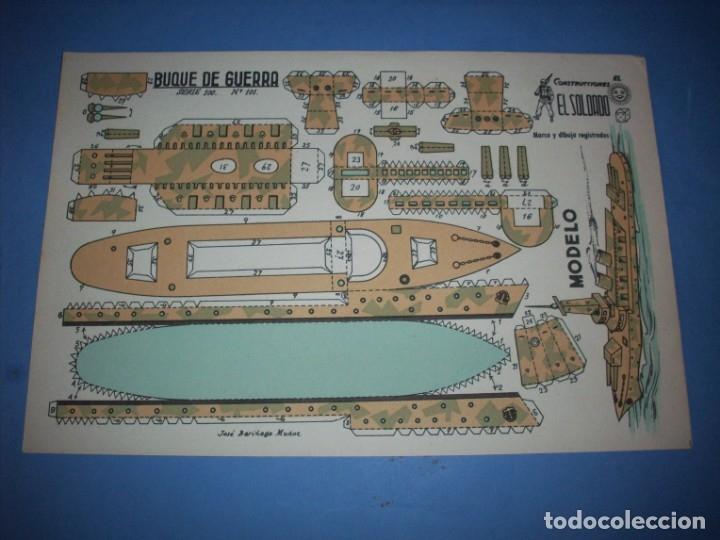 CONSTRUCCIONES EL SOLDADO BARCO (Coleccionismo - Recortables - Transportes)