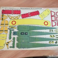 Coleccionismo Recortables: AEROPLANO DE 2 MOTORES CHOCOLATE EVARISTO JUNCOSA HIJO. HOJA 33,5 X 23 CM . MUY RARO (AB-1). Lote 173914605