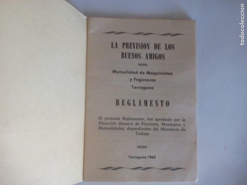 Coleccionismo Recortables: Reglamento mutualidad de máquinas y fogoneros de tarragona de 1960 = - Foto 2 - 176274458