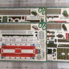 Coleccionismo Recortables: 4 LAMINAS RECORTABLES DE LOCOMOTORAS. EDITORIAL ROMA 1982. Lote 177141653