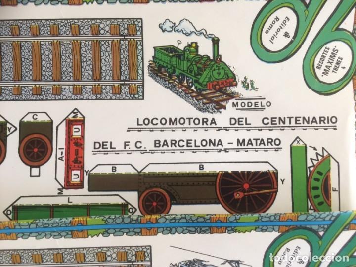 Coleccionismo Recortables: 4 Laminas recortables de Locomotoras. Editorial Roma 1982 - Foto 2 - 177141653