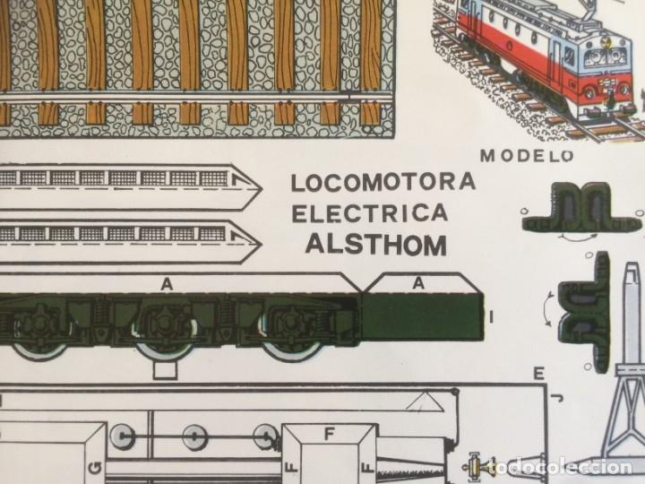 Coleccionismo Recortables: 4 Laminas recortables de Locomotoras. Editorial Roma 1982 - Foto 3 - 177141653