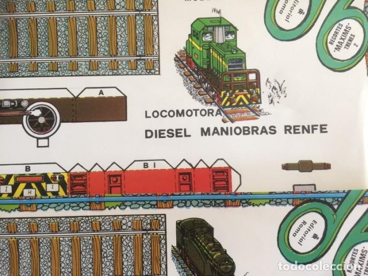 Coleccionismo Recortables: 4 Laminas recortables de Locomotoras. Editorial Roma 1982 - Foto 4 - 177141653