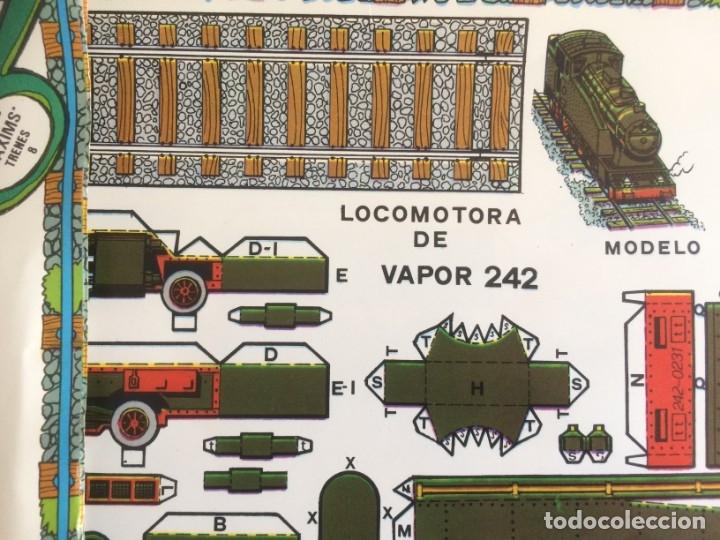 Coleccionismo Recortables: 4 Laminas recortables de Locomotoras. Editorial Roma 1982 - Foto 5 - 177141653