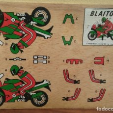 Coleccionismo Recortables: ESCASO RECORTABLE MARQUETERÍA MOTO A COLOR, MARCA BLAITON, PERFECTO ESTADO, PLASTIFICADO ORIGINAL. Lote 177182690