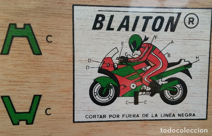 Coleccionismo Recortables: ESCASO RECORTABLE MARQUETERÍA MOTO A COLOR, MARCA BLAITON, PERFECTO ESTADO, PLASTIFICADO ORIGINAL - Foto 2 - 177182690