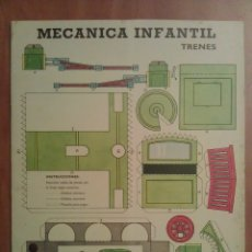 Coleccionismo Recortables: TRENES : RECORTABLES MECÁNICA INFANTIL. Lote 177675592