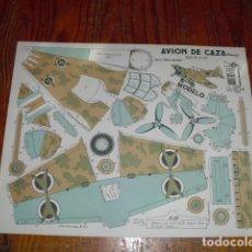 Coleccionismo Recortables: RECORTABLE AVIÓN DE CAZA -CONSTRUCCIONES EL SOLDADO SERIE 200 Nº 202 -. Lote 178132500