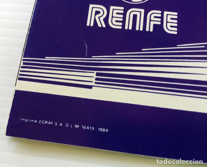 Coleccionismo Recortables: Horarios de Cercanías 46 Valencia – Castellón RENFE – 1984 - Egraf - Foto 3 - 183714117