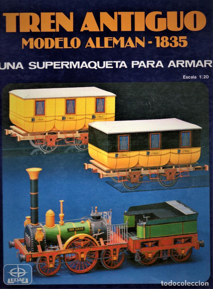 RECORTABLE TREN ANTIGUO ALEMAN 1835 (Coleccionismo - Recortables - Transportes)