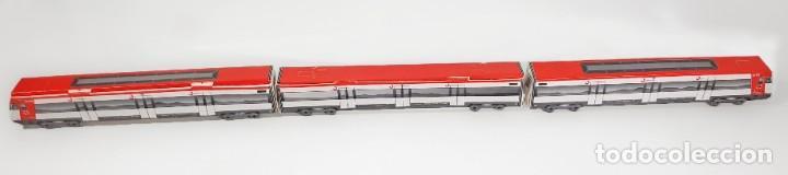 3 LÁMINAS RECORTABLES. TREN S/447 DE CERCANIAS DE RENFE - ESCALA N (Coleccionismo - Recortables - Transportes)