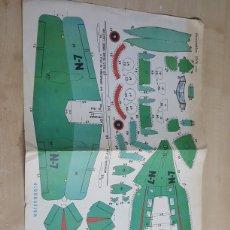Coleccionismo Recortables: RECORTABLES EVA AÑO 1965 HIDROAVION 2.206 CARTULINA DE 30X45 CM. Lote 192664727