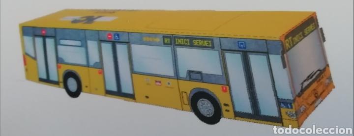 Coleccionismo Recortables: Recortable de papel Autobús urbano de Reus Tarragona Mercedes Benz Citaro Escala 23:1 - Foto 2 - 194774296