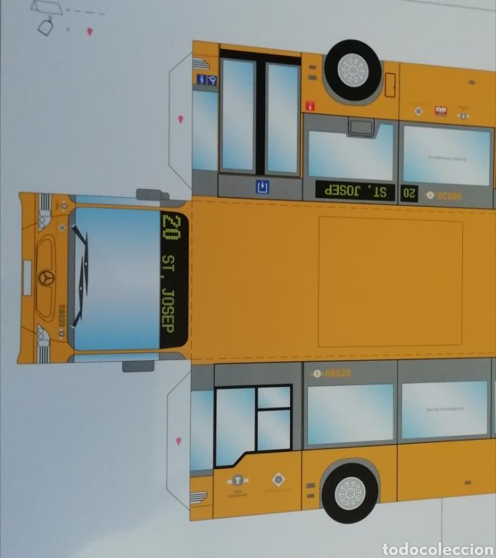 Coleccionismo Recortables: Recortable de papel Autobús urbano de Reus Tarragona Mercedes Benz Citaro Escala 23:1 - Foto 3 - 194774296