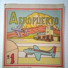 Coleccionismo Recortables: AEROPUERTO. RECORTABLE EL CONSTRUCTOR Nº 3. ED. ROMA, BARCELONA, 1960. Lote 195168361