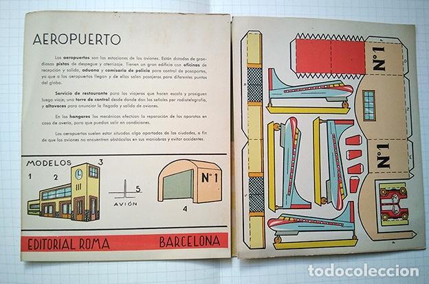 Coleccionismo Recortables: Aeropuerto. Recortable El Constructor nº 3. ED. Roma, Barcelona, 1960 - Foto 2 - 195168361