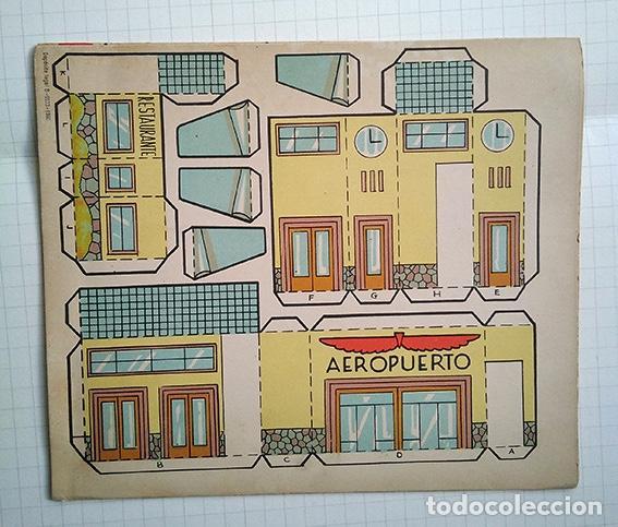 Coleccionismo Recortables: Aeropuerto. Recortable El Constructor nº 3. ED. Roma, Barcelona, 1960 - Foto 3 - 195168361
