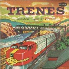 Coleccionismo Recortables: TRENES LOCOMOTORAS Y VAGONES - TROQUELADOS PARA MONTAR. Lote 234470525