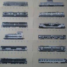 Coleccionismo Recortables: DOCE LÁMINAS CON MOTIVOS DE TRENES - 1989. Lote 197317987