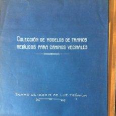 Coleccionismo Recortables: TRAMOS METALICOS PARA CAMINOS VECINALES 1923. Lote 198503281