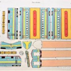 Coleccionismo Recortables: RECORTABLE TREN ELECTRICO. EDIT. LA TIJERA. Lote 199982251